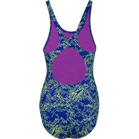 speedo Boom Allover Muscleback Swimsuit Women, blue/green
